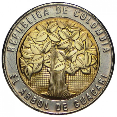 2008 * 500 Pesos Colombia Guacari tree