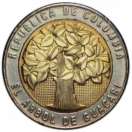 2008 * 500 Pesos Colombia Guacari tree