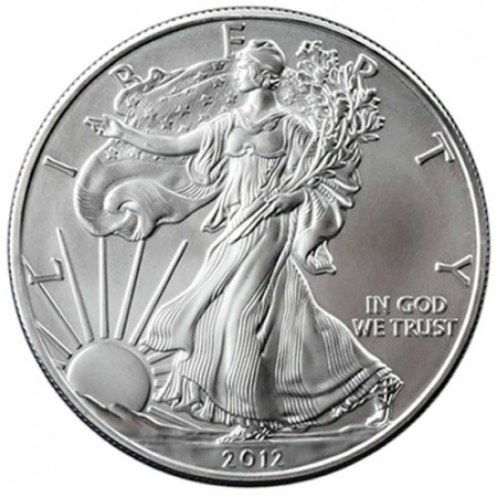 "2012 * 1 Dollar Silver 1 OZ United States ""Liberty - Silver Eagle"" UNC"