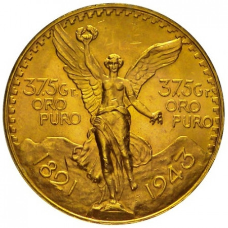 1943 * 50 pesos Mexico gold Centenary of Independence