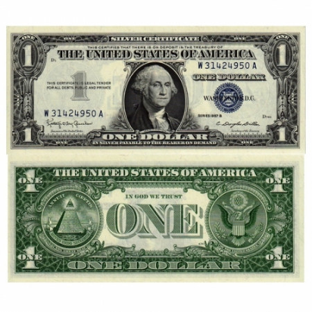 1957 B* Banknote United States 1 dollar Washington UNC