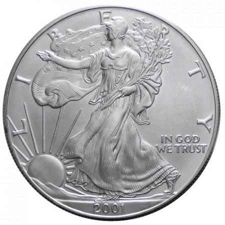 "2001 * 1 Dollar Silver 1 OZ United States ""Liberty - Silver Eagle"" UNC"