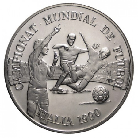"""1989 * 10 Diners Silver Andorra """"1990 FIFA World Cup"""" (KM 53) PROOF"""