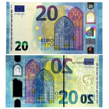 """2015 S * Banknote Italy European Union 20 Euro """"Type 2 – Draghi"""" (pNew) UNC"""