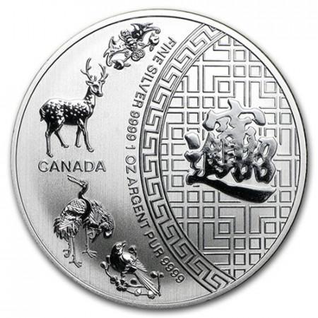 "2015 * 5 Dollars Silver 1 OZ Canada ""Five Blessings"" BU"