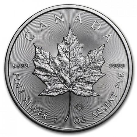 """2016 * 5 Dollars Silver 1 OZ Canada """"Maple Leaf"""" UNC"""