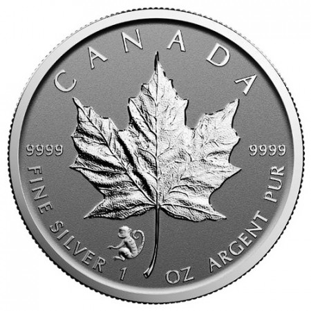 "2016 * 5 Dollars Silver 1 OZ Maple Leaf Canada ""Year of the Monkey"" Privy Mark"