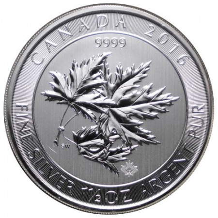 "2016 * 8 Silver Dollars 1,5 OZ Canada ""Multi Maple Leaf"" BU"