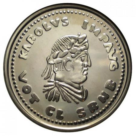 "1991 * 5 Ecu Silver BELGIUM ""Charlemagne"" (KM 183) PROOF"