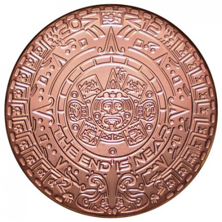 "2015 * Copper Round 1 OZ Medal ""Aztec Calendar"" BU"
