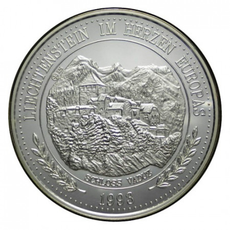 "1993 * 20 Ecu Silver 1 OZ Liechtenstein ""Vaduz Castle"" (X 22) PROOF"