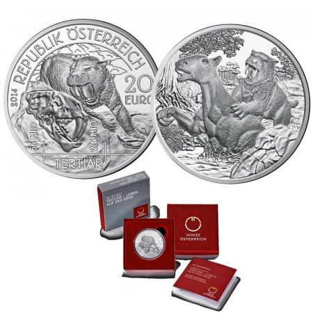 "2014 * 20 Euro Silver AUSTRIA ""Prehistoric Life - TERTIAR"" PROOF"