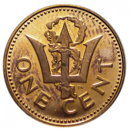 """1973 * 1 Cent Barbados """"Trident"""" (KM 10) PROOF"""