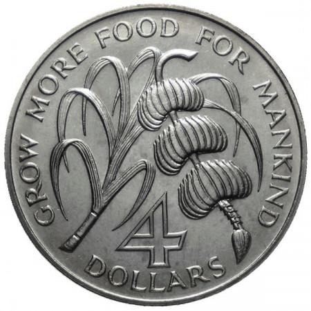 "1970 * 4 Dollars Barbados ""F.A.O. Series"""