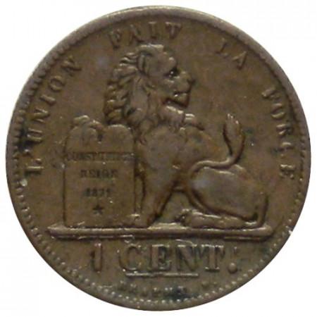 """1862 * 1 Centime Belgium """"Leopold I"""" (KM 1.2) VF"""
