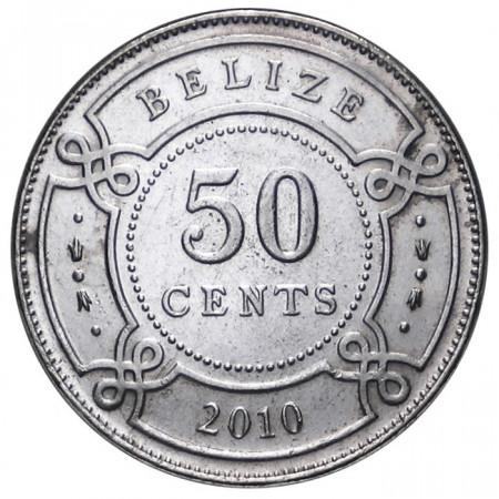 2010 * 50 cents Belize EF