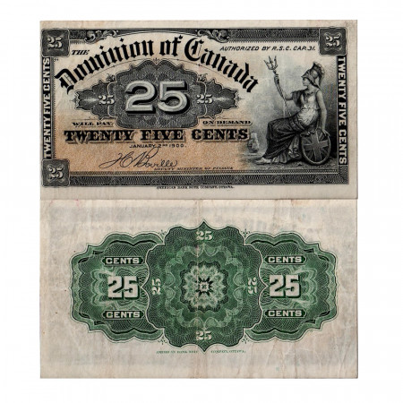 1900 * Banknote Canada 25 cents FF