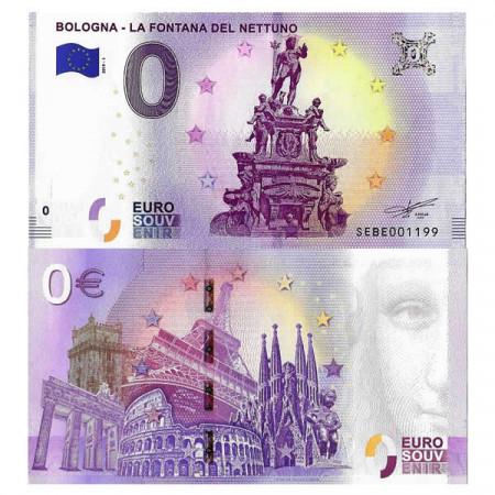 """2019-1 * Banknote Souvenir Italy European Union 0 Euro """"Bologna - La Fontana del Nettuno"""" UNC"""