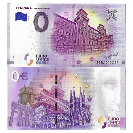 "2019-1 * Banknote Souvenir Italy European Union 0 Euro ""Ferrara - Castello Estense"" UNC"
