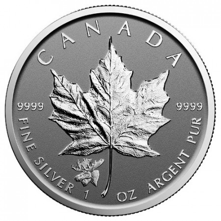 """2017 * 5 Dollars Silver 1 OZ Maple Leaf Canada """"Moose"""" Privy Mark"""