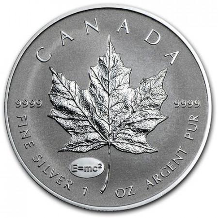 """2015 * 5 Silver Dollars 1 OZ Maple Leaf Canada """"A Einstein"""" Privy Mark"""