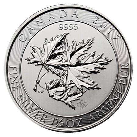 """2017 * 8 Dollars Silver 1,5 OZ Canada """"Multi Maple Leaf"""" BU"""