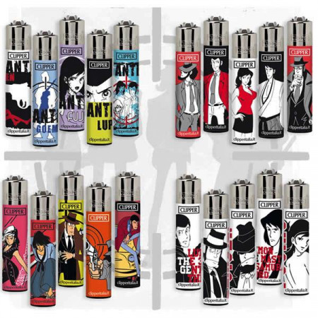 "CLIPPER * Set 20 Lighters ""Lupin the Third"" Limited Edition 2018"