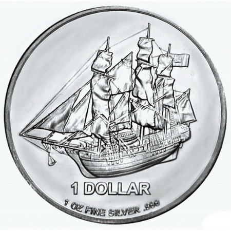 2014 * Silver dollar 1 OZ Cook Islands Bounty