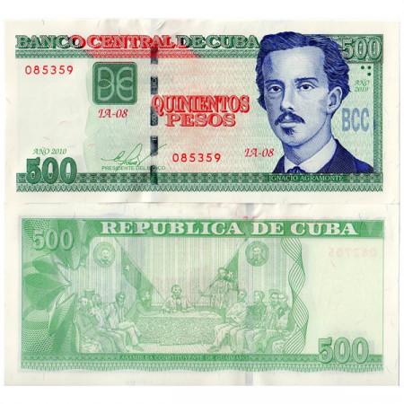 """2010 * Banknote Cuba 500 Pesos """"I Agramonte"""" UNC"""
