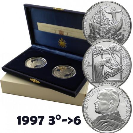 """1997 * Diptych 10000 Lire Vatican """"Great Jubilee in 2000"""" PROOF"""
