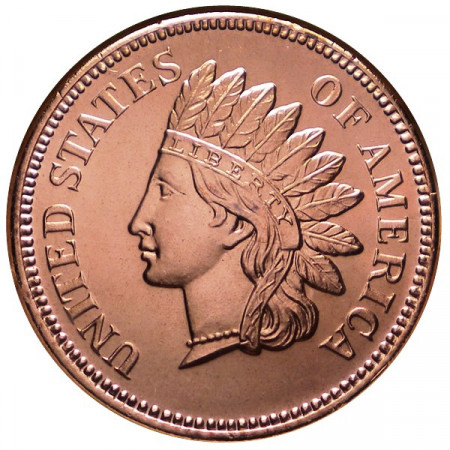 "2014 * Copper round United States Copper medal ""Indian Penny"""