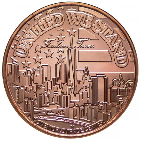 "2014 * Copper round United States Copper medal ""11/9 Memorial"""
