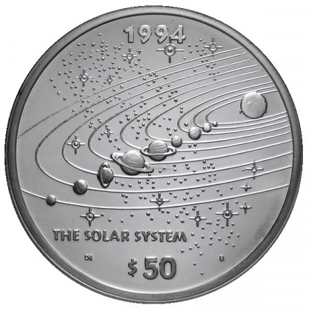 1994 * 50 Silver dollars 1 OZ Marshall Islands Solar System