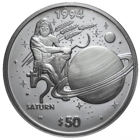 1994 * 50 Silver dollars 1 OZ Marshall Islands Saturn