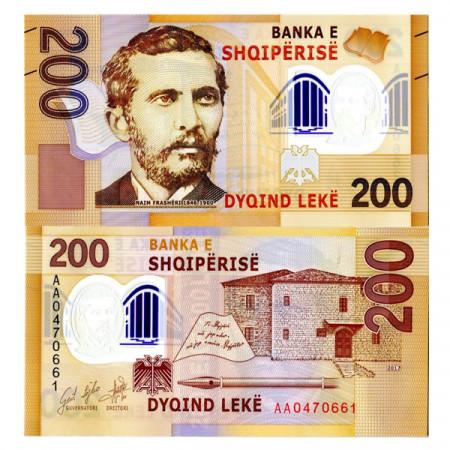 "2017 * Banknote Polymer Albania 200 Leke ""N Frasheri"" (pNew) UNC"