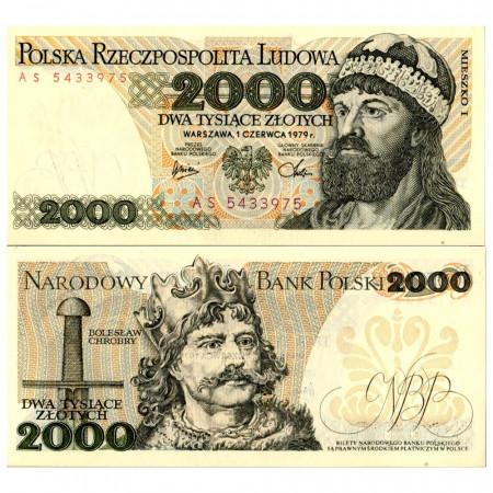 """1979 * Banknote Poland 2000 Zlotych """"Duke Mieszko I"""" (p147b) UNC"""