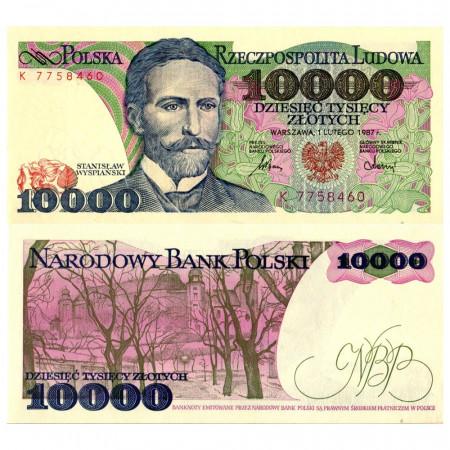 """1987 * Banknote Poland 10.000 Zlotych """"Stanisław Wyspiański"""" (p151a) UNC"""