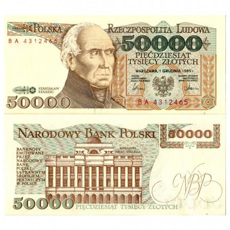 """1989 * Banknote Poland 50.000 Zlotych """"Stanisław Staszic"""" (p153a) UNC"""