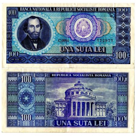 "1966 * Banknote Romania 100 Lei ""Socialist Republic"" (p97a) aXF"