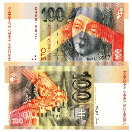 "1993 * Banknote Slovakia 100 Korun ""Madonna in St. Jacob's Church"" (p24) UNC"