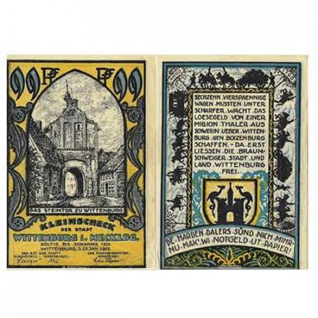 "1922 * Notgeld Germany 99 Pfennig ""Mecklenburg-Vorpommern - Wittenburg"" (1445) VF"