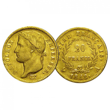 "1812 A * 20 Francs Napoleon Gold France ""First Empire - Napoleon"" (KM 695.1) VF"