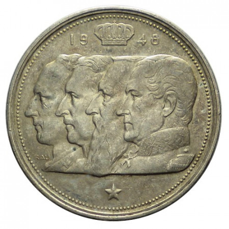 "1948 * 100 Francs Silver Belgium ""Leopold III"" (KM 139.1) XF"