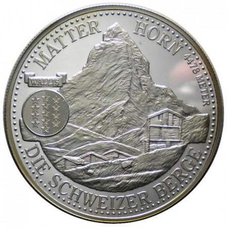 """N.D. * 1 Unze Silver 1 OZ Switzerland """"Matterhorn """" PROOF"""