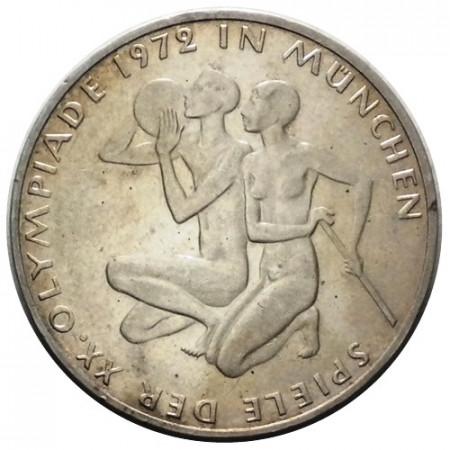 "1972 F * 10 Deutsche Mark Silver GERMANY ""Olympic Games Munich '72"" (KM 132) VF"