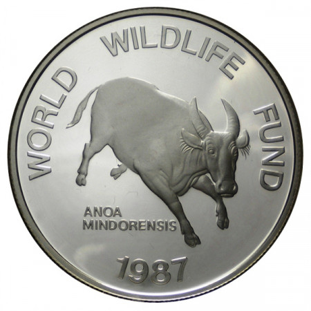 "1987 * 200 Piso Silver Philippines ""25th Foundation WWF"" (KM 248) PROOF"