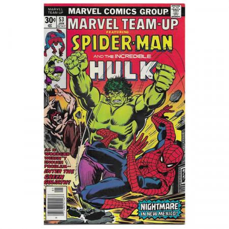 """Comics Marvel #53 01/1977 """"Marvel Team-Up ft Spiderman - Hulk"""""""