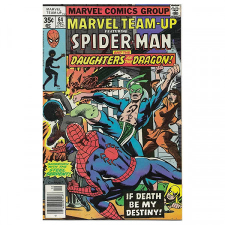 "Comics Marvel #64 12/1977 ""Marvel Team-Up ft Spiderman - Daughters of the Dragon"""
