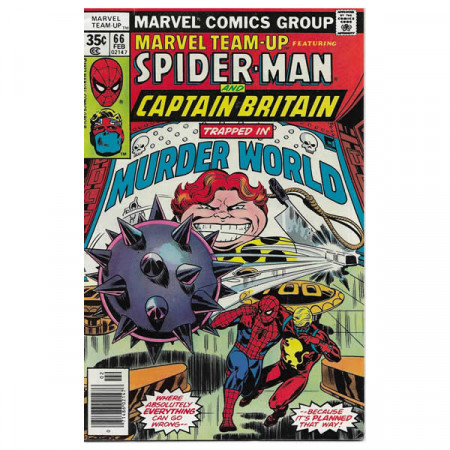 "Comics Marvel #66 02/1978 ""Marvel Team-Up ft Spiderman - Captain Britain"""