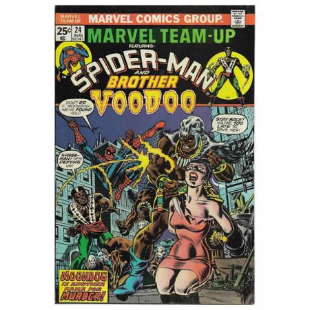 """Comics Marvel #24 08/1974 """"Marvel Team-Up ft Spiderman - Brother Voodoo"""""""
